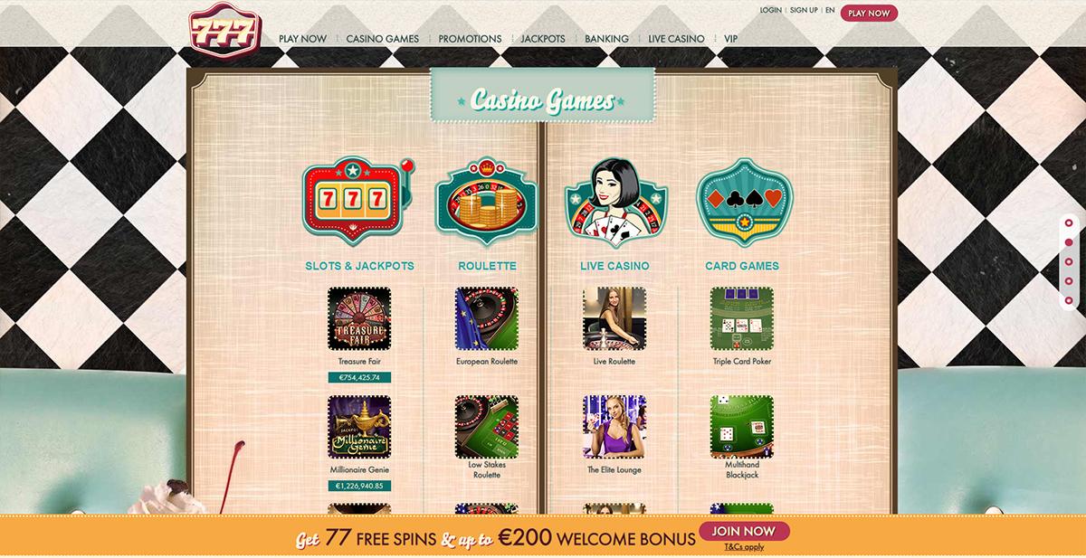 Casino 777 77 Free Spins 1500 Welcome Bonus Mobile Casino Com