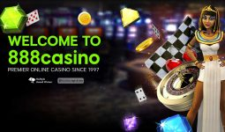 888 Casino welcome page