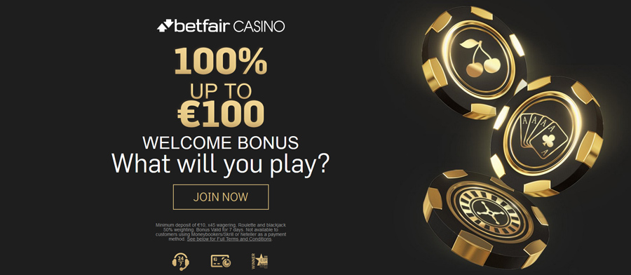 Betfair Casino 100 Welcome Bonus Up To 100 Mobile Casino Com