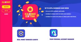 caxino casino weekly cashback offer