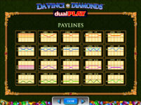 Da Vinci Diamonds Dual Play Paylines