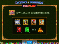 Da Vinci Diamonds Dual Play Wild