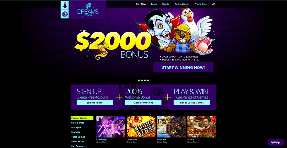 dreams casino $200 no deposit bonus codes 2019