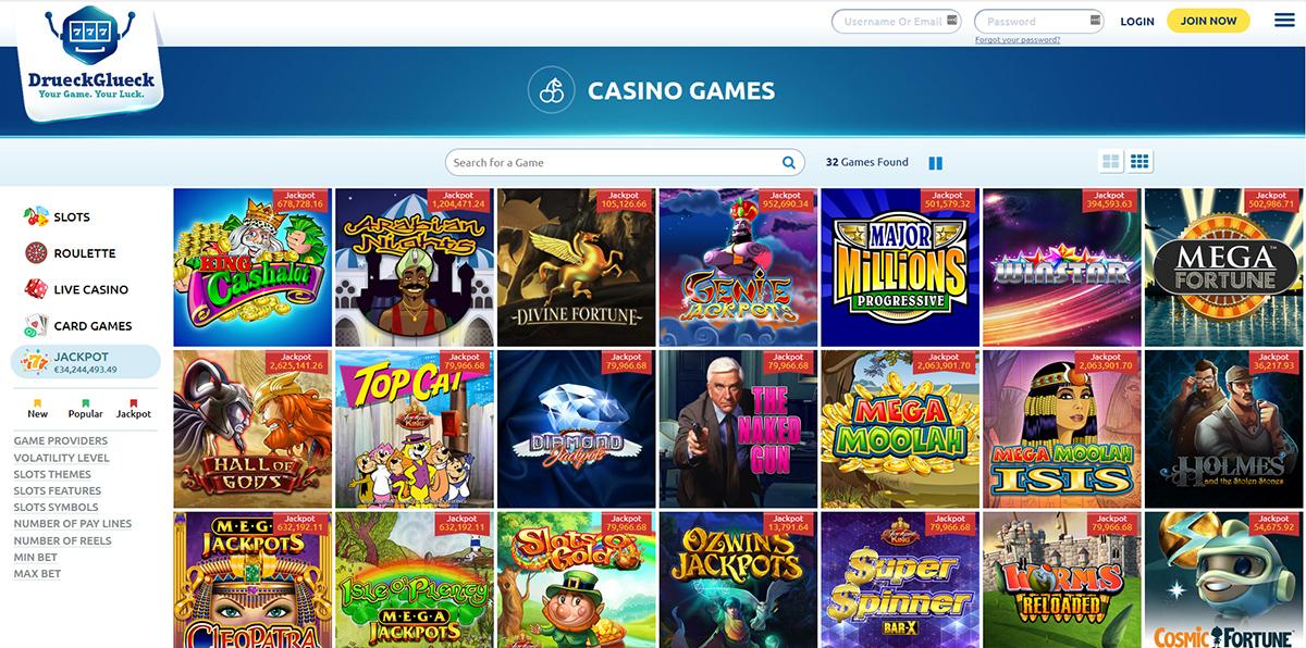 DrГјckglГјck Casino