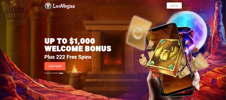 Leo Vegas Casino Bonus Banner