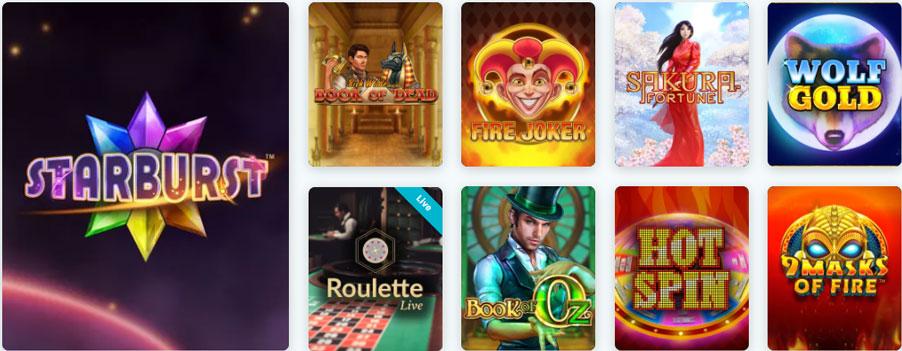 Lucky Days Casino Canada games