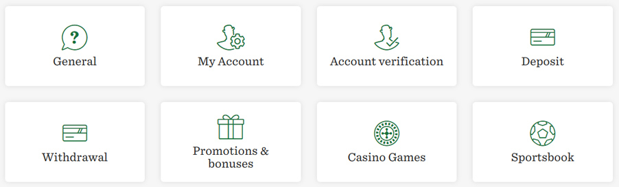 Mr Green Casino support