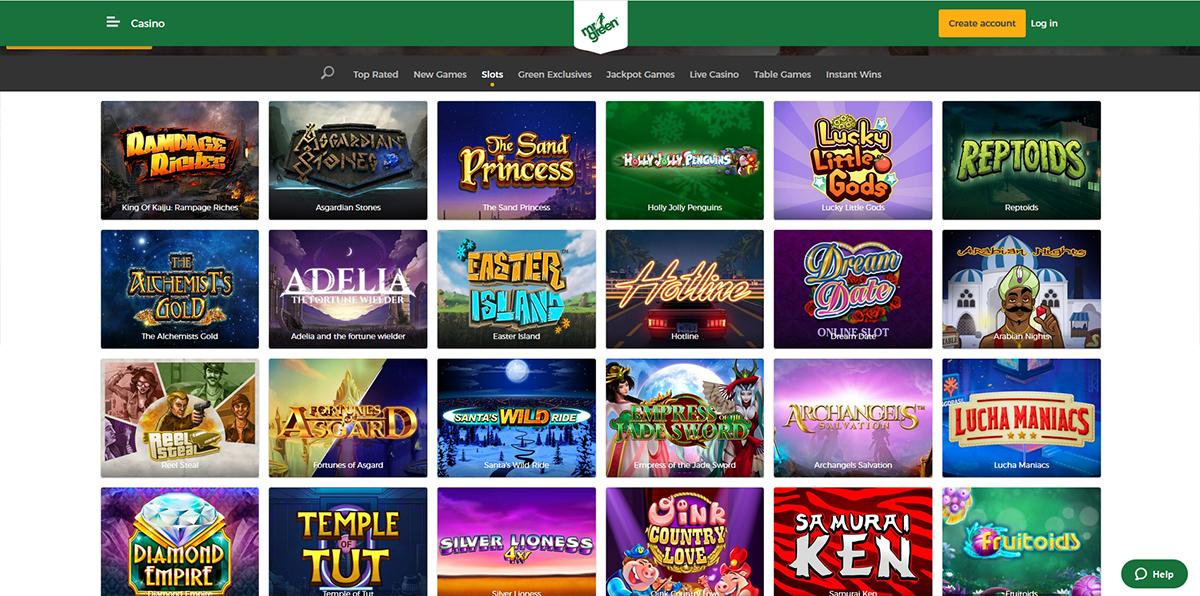 Mr Green Casino Ideal