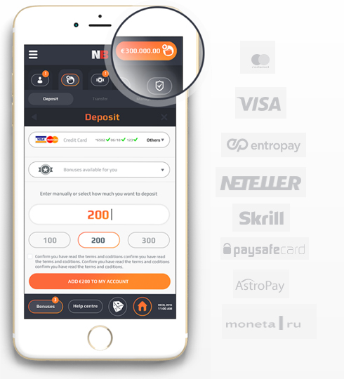 NetBet Canada mobile payment methods
