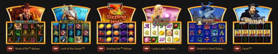Novomatic Games Casinos