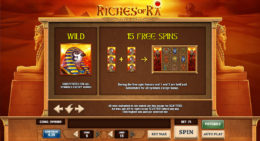 riches of ra free spins