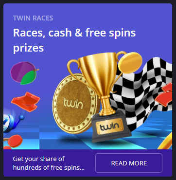 twin casino races promotion