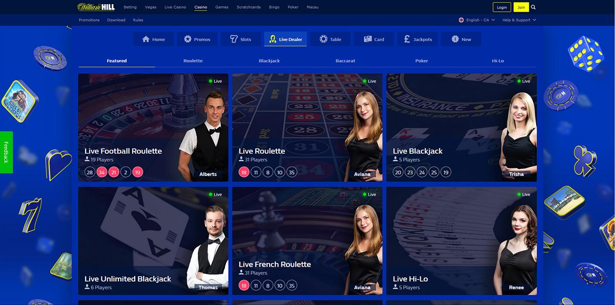 William Hill Live Casino Mobile