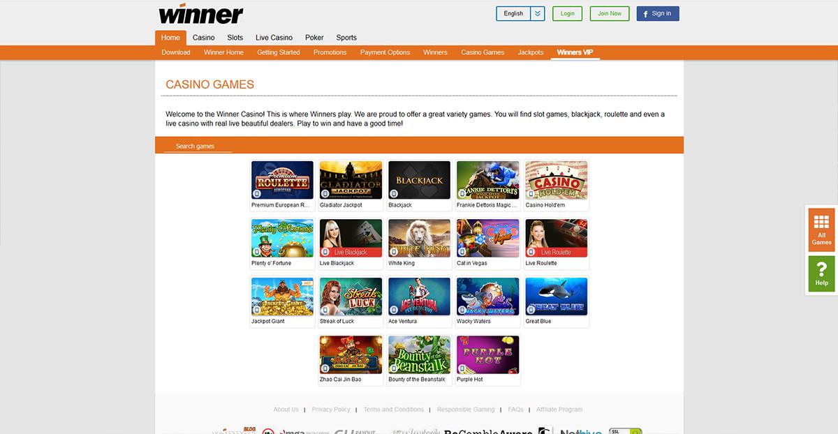 Winners Casino Mobile